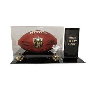 Atlanta Falcons Deluxe Football Display Case with Ticket