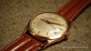 VINTAGE UNIVERSAL GENEVE AUTOMATIC BUMPER WATCH MEN´S 18K SOLID GOLD