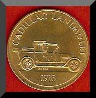 Franklin Mint Antique Car Token 1918 CADILLAC LANDAULET