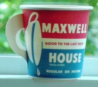 Unused Vintage 1950s Maxwell House Coffee Sample Cup