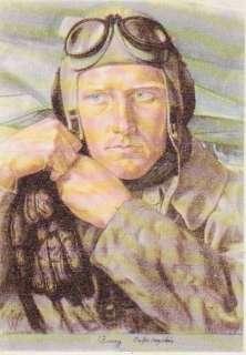 ORIGINAL WW2 GERMAN ARTIST WILLRICH POSTCARD of FLIEGER