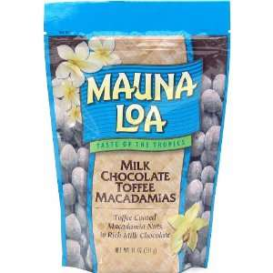 Mauna Loa Milk Chocolate Toffee Macadamia Nuts, 11 Ounce Bag (Pack of
