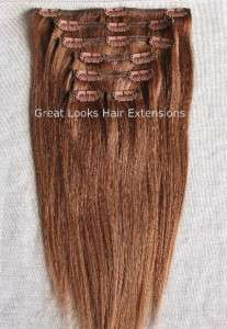 IN ON INDIAN REMY HUMAN HAIR EXTENSIONS #6 Light Reddish Brown