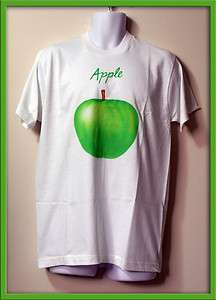 BEATLES Rare APPLE RECORDS T SHIRT Size L Beautiful Logo Image