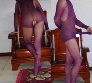Mens Tights Stocking Purple Pantyhose full body sheath for Men One