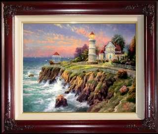 18x24 S/N Limited Edition Thomas Kinkade Lighthouse Canvas Art