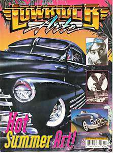 LOWRIDER ARTE MAGAZINE 1997 CHICANO TATTOO ART FLASH TUPAC
