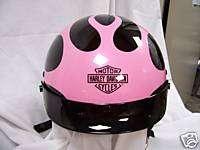Harley Davidson Half Helmet Tuscadero Flame Pink & Black XL # 97369