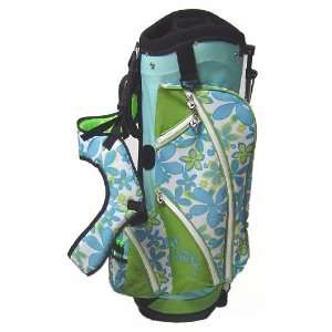 Birdie Babe Womens Ladies Golf Bag Stand Cart Turquoise
