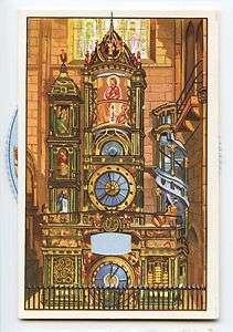 MECHANICAL STRASBOURG Cathedral Astronomical Clock postcard