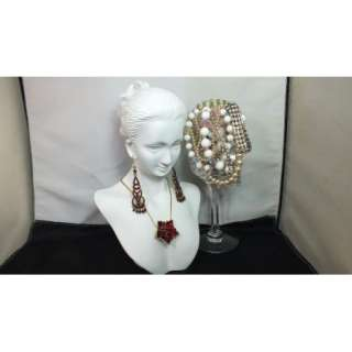 NEW Jewelry Display Bust White Resin Mini Mannequin Head Earring