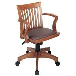 Office Star   Fruitwood Wood Bankers Chair With Burgundy