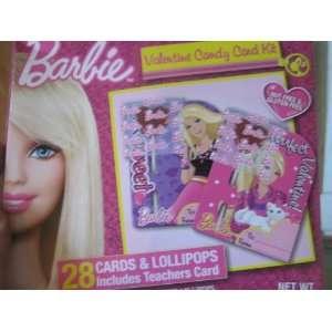 BARBIE Valentine Candy Card Kit   28 Cards & Fruit