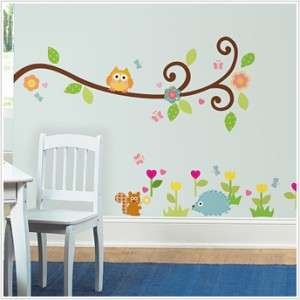 New SCROLL TREE BRANCH WALL DECALS Kids Branches & Leaves Stickers