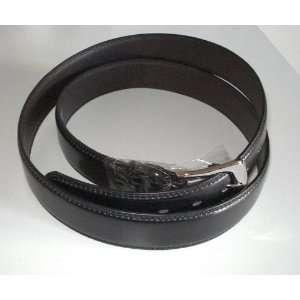 Big Mens Black Heavy Leather Dress Belt Size 5xl 60 1 1