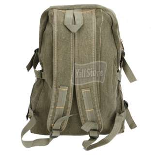 New Canvas Men Travelling Canvas Backpack Bag Army Green