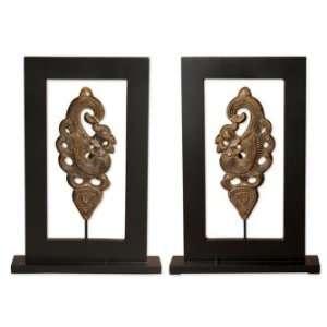 and Clocks Batur Table Top Statues, Set/2 Furniture & Decor