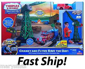 New Thomas Train R/C Cranky & Flynn Save the Day Trackmaster HUGE Set