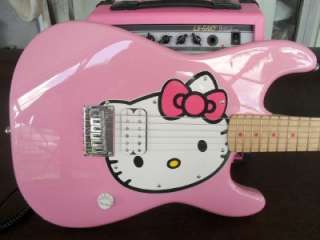 PINK Fender Squier HELLO KITTY Stratocaster Electric Guitar, CASE