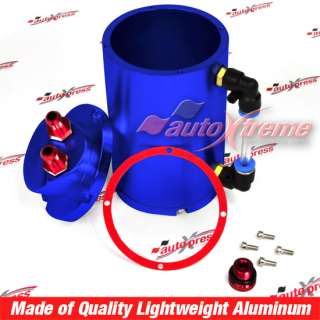 BLUE Aluminum Engine OIL CATCH FILTER Reservoir Racing Quality AOLLY