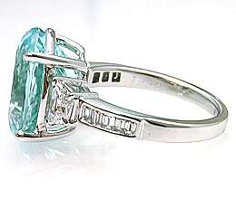 Gorgeous Paraiba Tourmaline and Diamond Ring