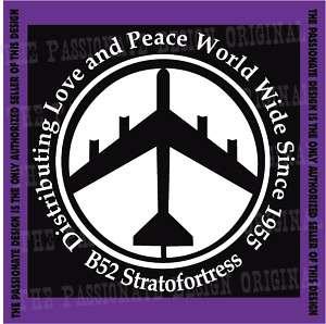 B52 decal military bomber air force peace love fun A098