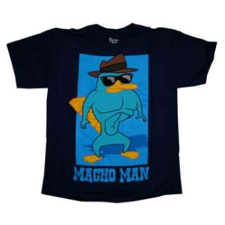 Phineas And Ferb Perry The Platypus Macho Man Cartoon Boys Youth T