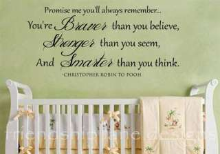 CHRISTOPHER ROBIN TO WINNIE THE POOH Vinyl wall decal/quote/words/baby
