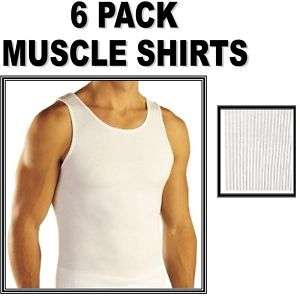 MENS White Tank Top Wife Beater Undershirt A Shirt S
