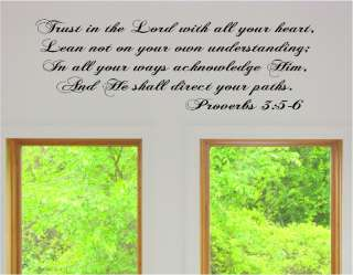 Trust in the Lord Vinyl Wall Art Words Decals Stickers Decor Religious