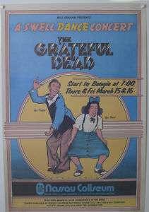 Grateful Dead Swell Dance Concert Original Music Poster