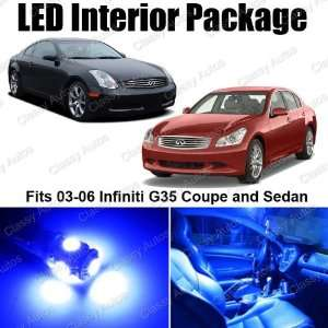 Infiniti G35 Blue Interior LED Package (7 Pieces)
