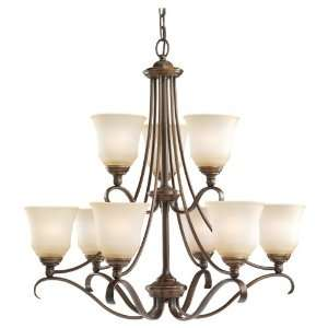 Light Fluorescent Chandelier in Russet Bronze  Energy Star and Title