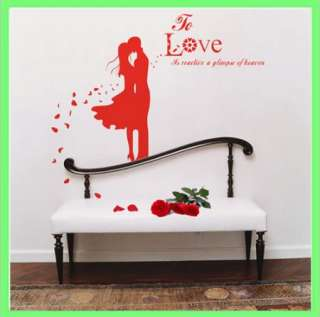 39 x 15 Lover Style Wall Sticker Home Decor Decal Love Vinvy Wall