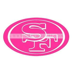 SAN FRANCISCO 49ERS car window sticker decal FOR CANCER