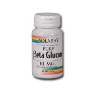 Beta Glucan 30 Caps 10 Mg ( Enriched with Vitamin C )   Solaray