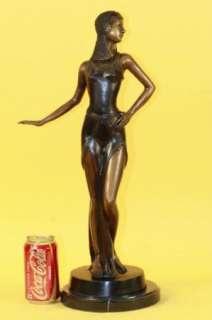 SIGNED D.H.Chiparus, bronze statue art deco, dancer sculpture figure
