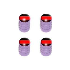 Thin Red Line   Firemen Tire Rim Valve Stem Caps   Purple