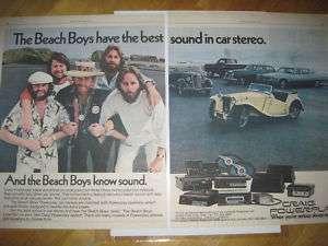 BEACH BOYS CRAIG POWERPLAY CAR STEREO AD 21 X 13/1977