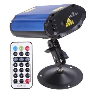 Mini Projector Voice control Laser Stage Lighting Blue & Red Club