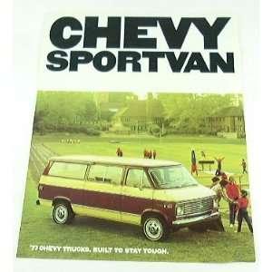 1977 77 Chevrolet Chevy SPORTVAN Van BROCHURE G10 G30