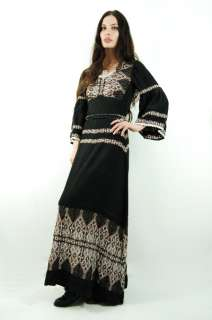 COTTON Embroidered Crochet INDIA Festival BELL SLV Maxi Dress