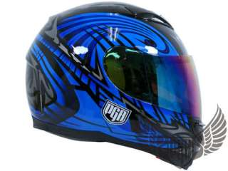 Iridium Tinted Shield Visor PGR Helmet Full Face 500