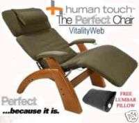 THE PERFECT CHAIR Sage Micro Suede Maple Human Touch