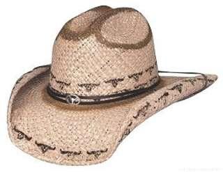 Western Hats Bull Rider Morocca Straw Cowboy Hat