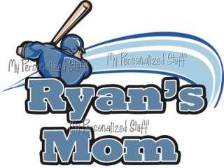 Personalized BASEBALL MOM Sports Fan t shirt Fan Gift Grandma DAD Team