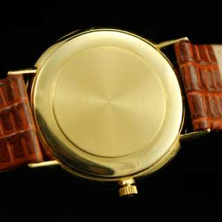 VINTAGE OMEGA ULTRA SLIM 18K SOLID YELLOW GOLD MENS WATCH