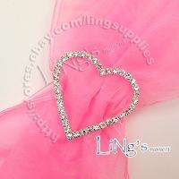Grade Rhinestone Love Heart Buckle Ribbon Slider Craft Wedding Favor