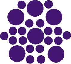 PURPLE + 1 Color Polka Dot Circles Wall Sticker Decal