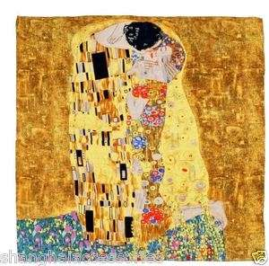 Oil Painting Scarf Wrap Gustav Klimts The Kiss for VALENTINES DAY